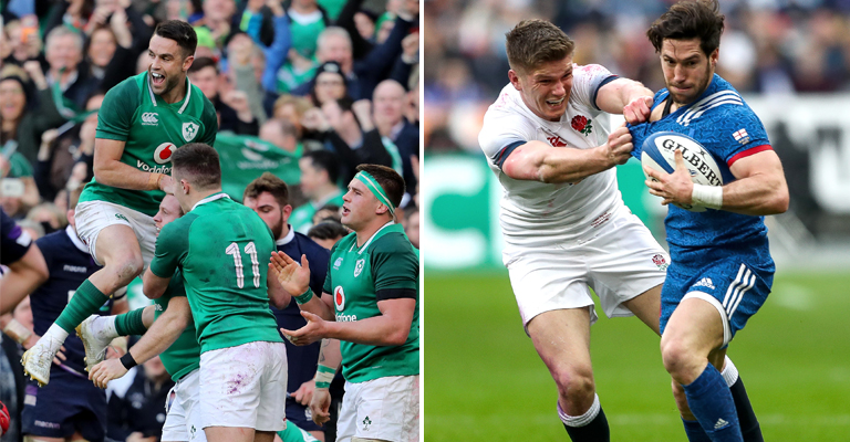 Limerick players celebrate NatWest 6 Nations Grand Slam glory at Twickenham