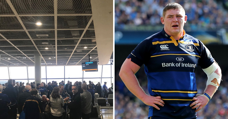Leinster rugby fans stranded in Dublin due to issue with aircraft