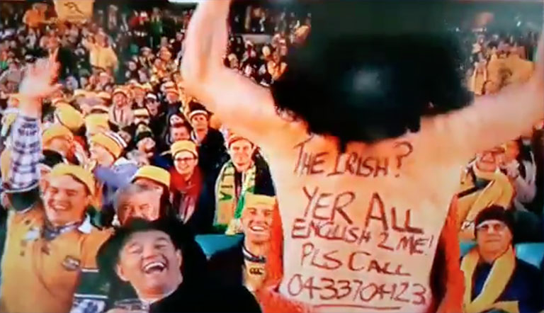 Alan Quinlan Has Brilliant Response To 'English' Jibe Aimed At Ireland By Aussie Fan