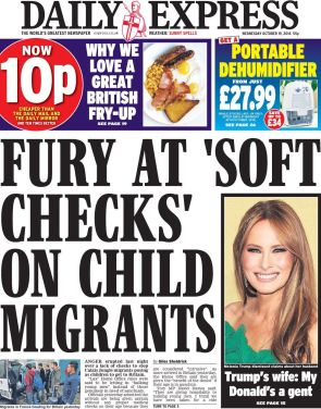 the-daily-express-news-paper-front-page-nbspwednesday-19th-october-2016-britainnbspcalais