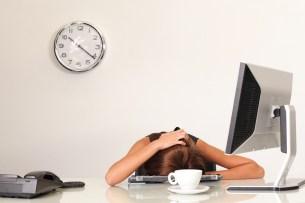 büro frau im stress