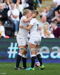 during the Women's Six nations match between England and Scotland at the Twickenham Stoop on March 11, 2017 in London, England.