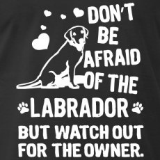 dont-be-afraid-of-the-labrador-but-watch-out-the-t-shirts-men-s-premium-t-shirt