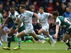 NOTTINGHAM, ENGLAND - APRIL 24: Johannes Goosen of Racing 92 breaks with the ball during the European Rugby Champions Cup semi final match between Leicester Tigers and Racing 92 at the City Ground on April 24, 2016 in Nottingham, England. (Photo by David Rogers/Getty Images)