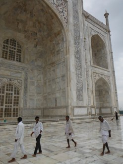Men at the Taj