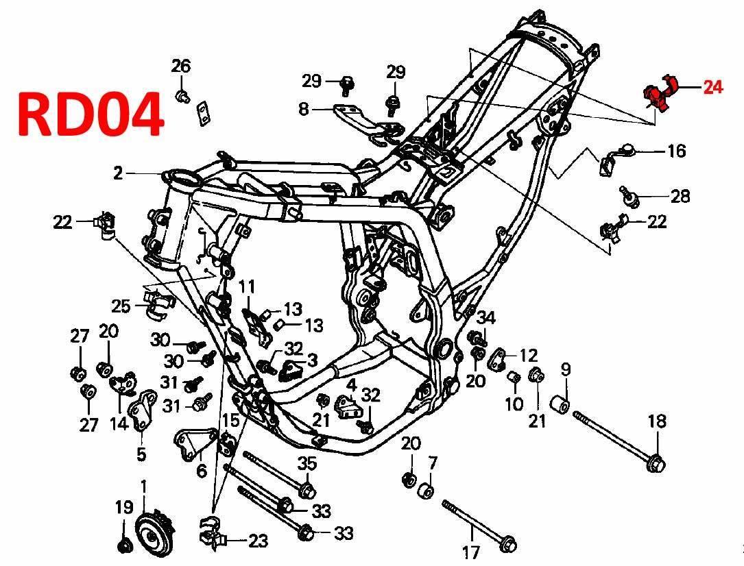Oem Honda 15mm Cable Clip