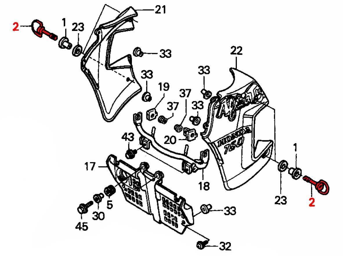 Oem Honda Side Panel Mounting Dzus Fastener