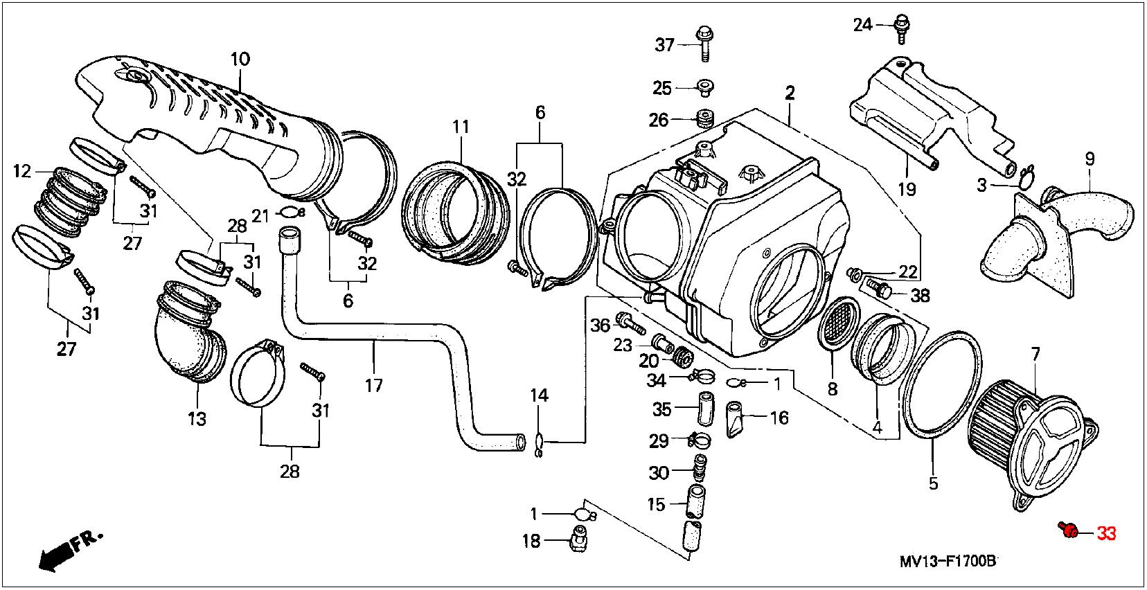 Oem Honda Air Filter Screw Washer