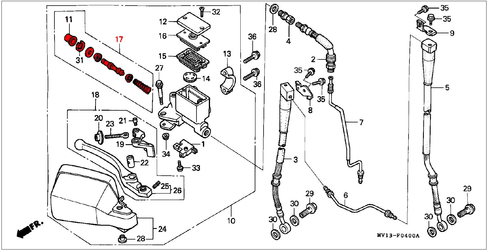 Oem Honda Master Cylinder Kit