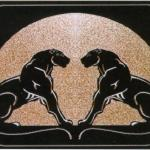 INT 7125 Gold * Double Panther Rug