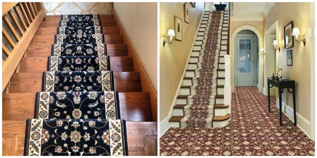 Common Rug Measuring Mistakes And How To Avoid Them   Carpet Up Middle Of Stairs