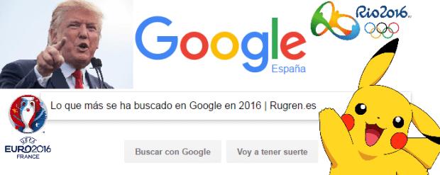 buscado en Google en 2016
