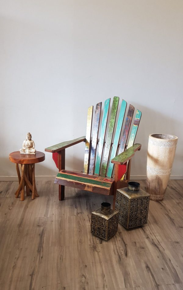 LA 06 Genuine Recycled Teak Boat Wood Cape Cod Adirondack Patio Chair