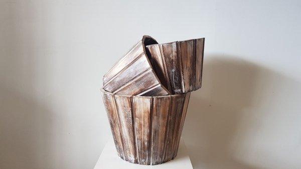 KA 07 Kirk Round Storage Basket Wood