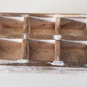ID 04 Evanston 6 Compartment Wooden Storage Box