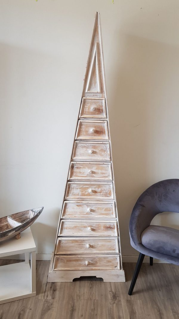 KA 11 Jennings Pyramid Rack with Drawers Acacia Wood