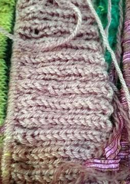 Ribbing in Paterna Persian yarn, sold for tapestry.