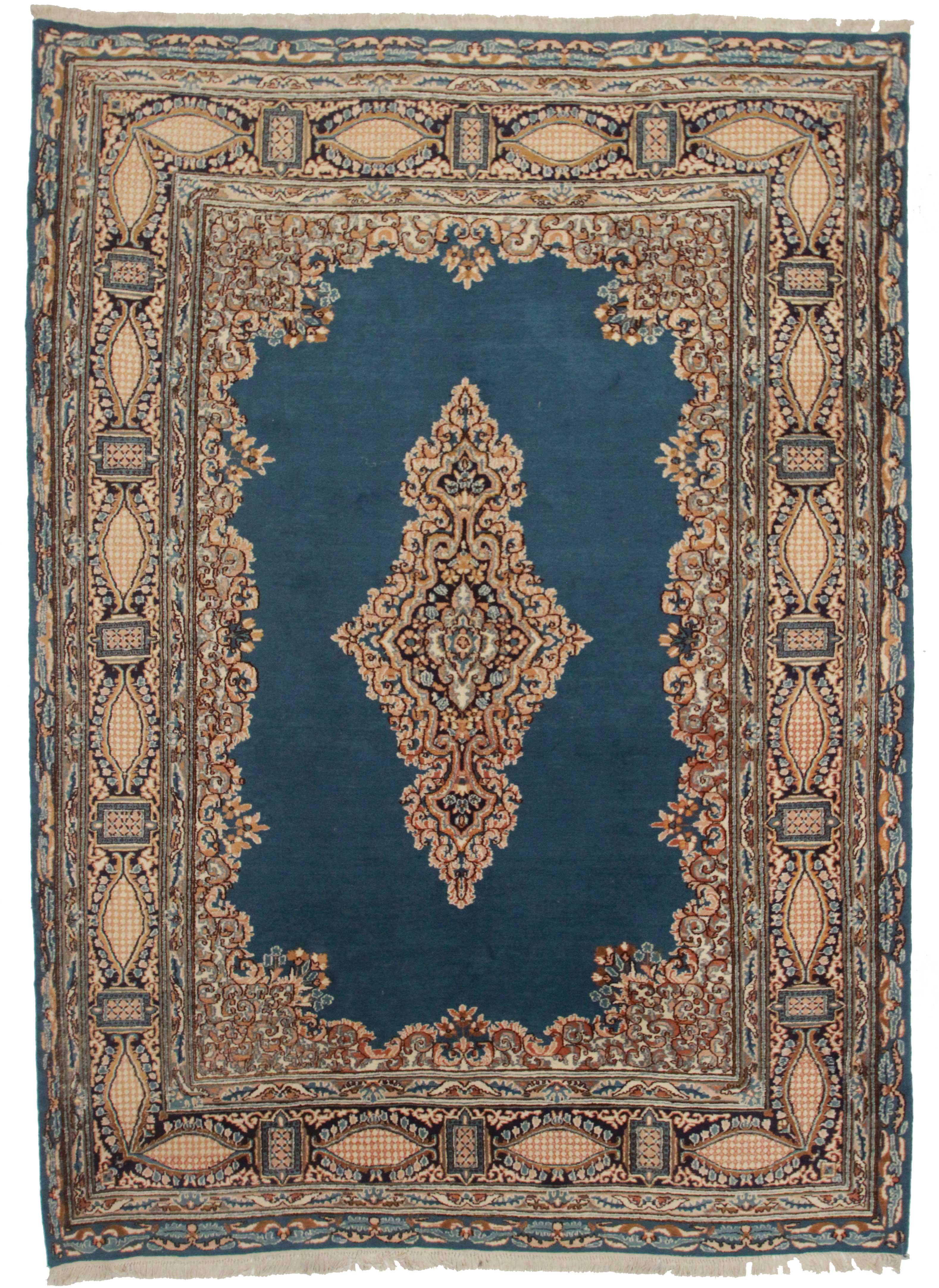 Persian Kerman 7 X 10 Wool Oriental Rug 2411