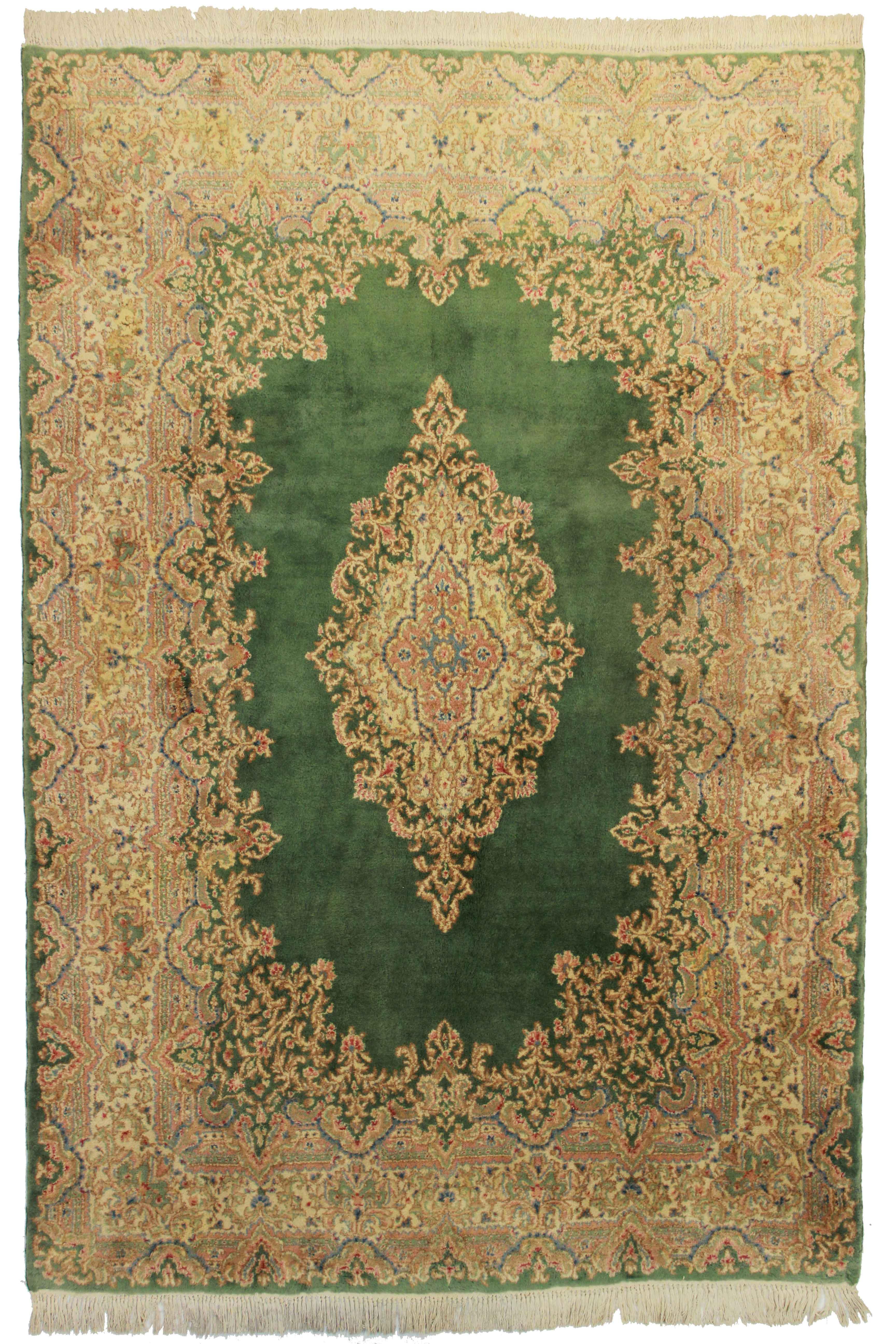6 X 8 Vintage Wool Persian Kerman Rug 10500