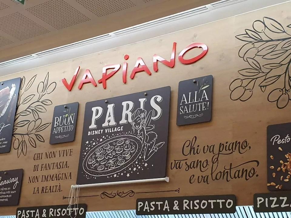 Vapiano eten Disney Village