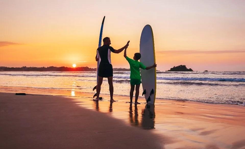 Surfen met kinderen