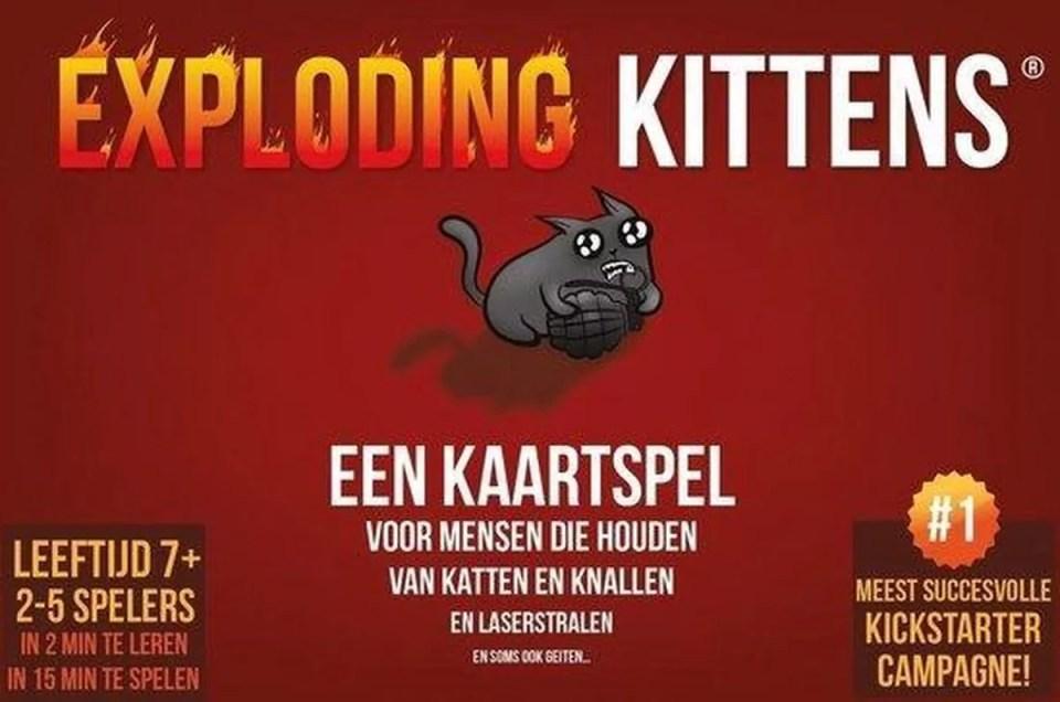 Exploding kittens leukste kaartspellen voor op reis