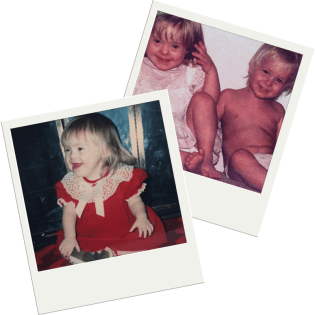Sara and Kevin Ruh as Babies