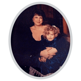 A photo of Young Debra Ruh and Sara Ruh as a baby