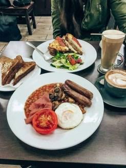 Traditional English Breakfast in London, UK
