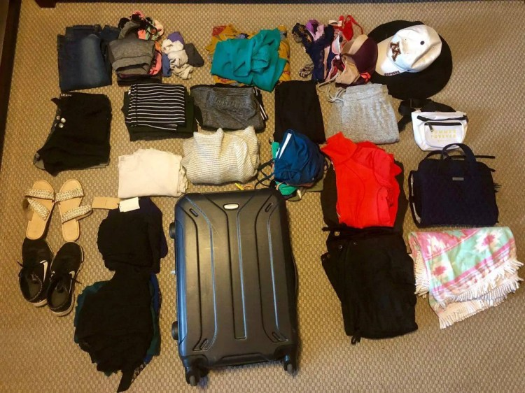 extreme minimalist travel, packing list for europe, what to pack for a 2 week trip to europe, packing list for europe fall, europe packing list summer, how to pack for 5 days in a backpack, how to pack light for 2 weeks, travel packing list, travel light, how much clothes to pack for 2 weeks, how to pack a carry on for a week, what to pack for a two week trip, travel essentials for women, women's packing list for europe, how to pack for a week in a carry on, how to pack light for a week
