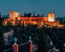 Sunset over the Alhambra in Granada, Spain