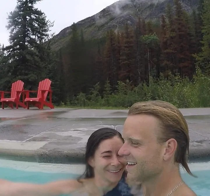 Miette Hot Springs in Jasper National Park Alberta Canada