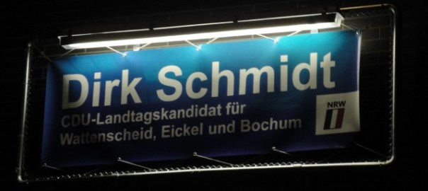 Banner CDU-Landtagskandidat Dirk Schmidt