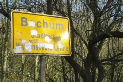 Ortseingangsschild Bochum, Stadtteil Wattenscheid-Leithe