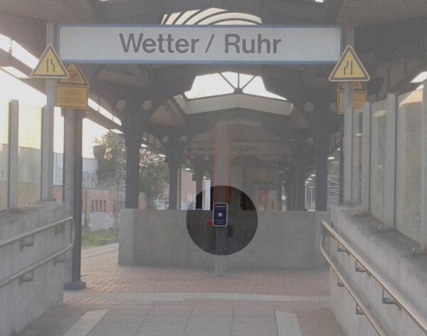 Potemkinsches Angebot: Touchpoint am Bahnhof Wetter (Ruhr)