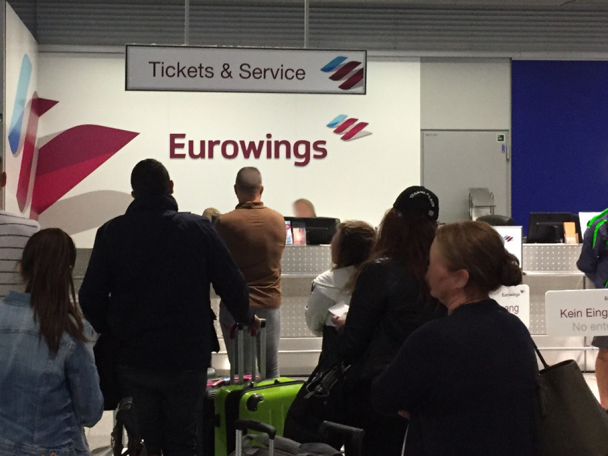 check in zeiten eurowings