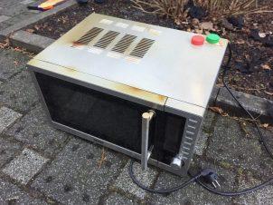 "Übeltäter ""Mikrowelle"" (Foto: RuhrkanalNEWS)"