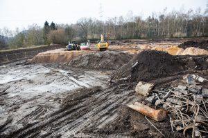Die Baugrube für das neue Verwaltungsgebäude der Stadtwerke (Foto:RuhrkanalNEWS)