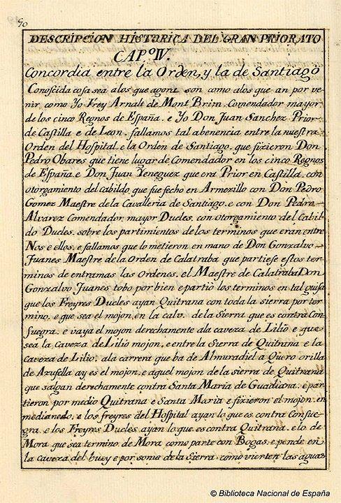 concordia entre las órdenes de Santiago y San Juan