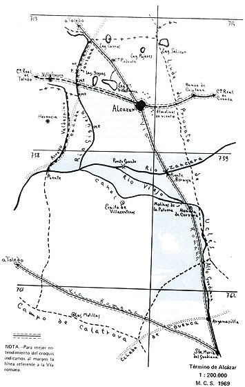 Mapa Alameda de Cervera y Alcázar de San Juan