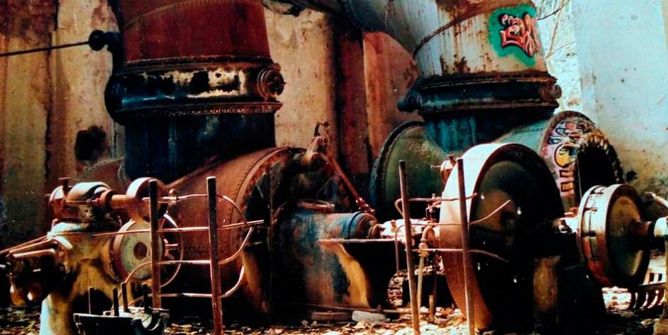 Sala de máquinas de San Alberto, años 80
