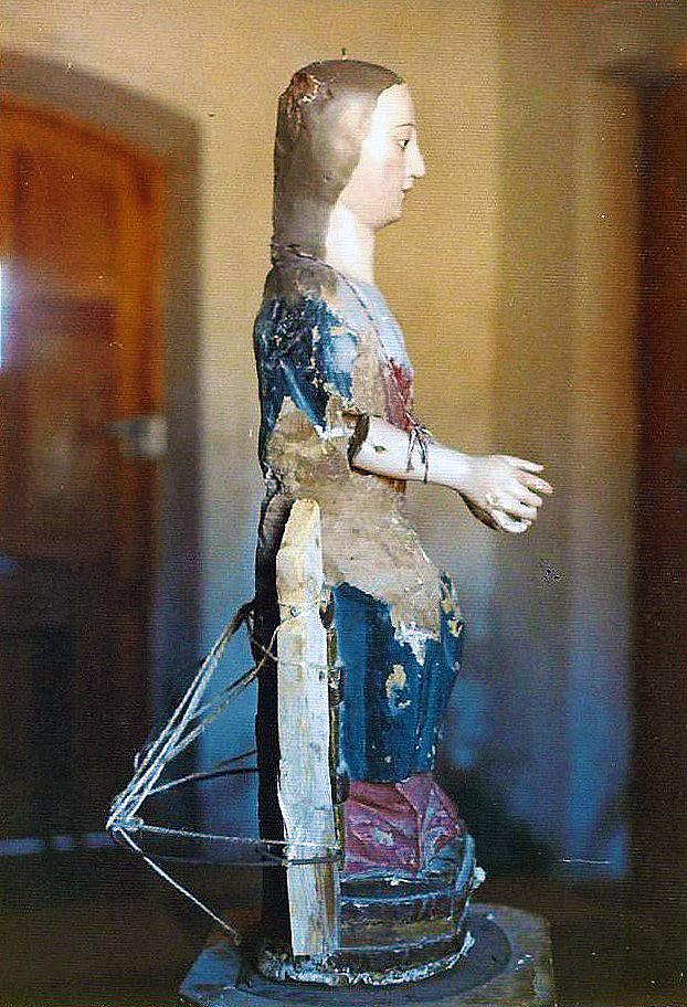 Talla de Nuestra Señora de la Blanca en el año 1972