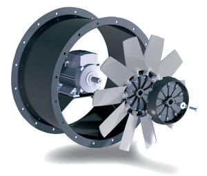 Eksenel motor soğutucusu