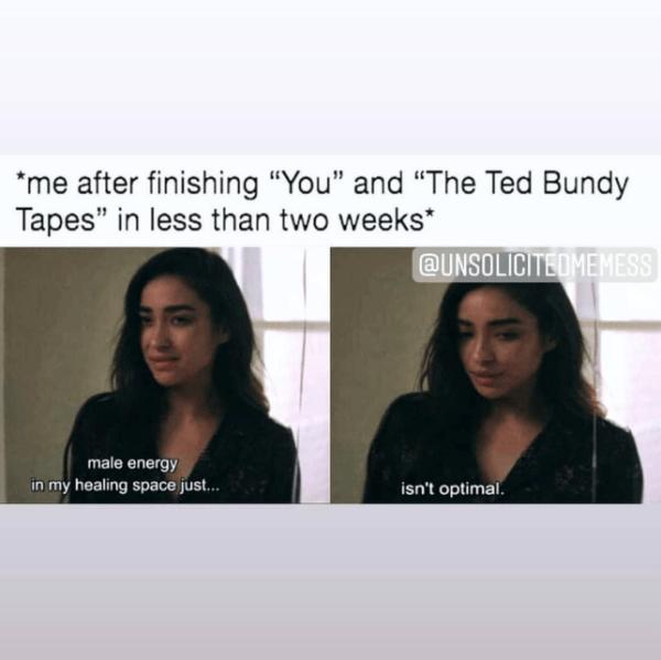 True crime memes, my favorite murder, forensic files, forensic files memes, funny true crime memes, best true crime memes, funny forensic files memes, best forensic files memes, forensic files, true crime podcast memes, funny true crime podcast memes, mindhunter, mindhunter Netflix, true crime, Netflix you, Netflix You season 2, Netflix you memes,