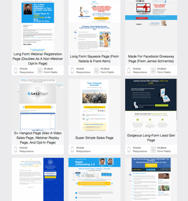 More Leadpages Templates