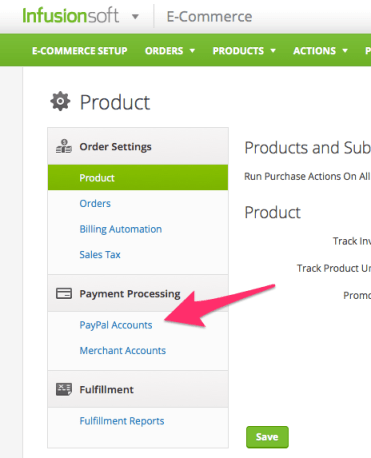 paypal infusionsoft ecommerce