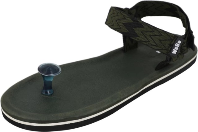 WeBe Men Mehendi Sandals