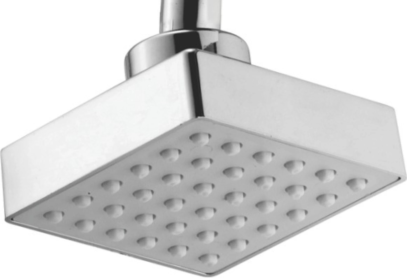 Touch Touch 3x3 Inch Square Overhead Rain Abs Shower Silver Shower Head