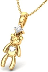 Theme Jewels LPT-0153-14KY 14kt Diamond Yellow Gold Pendant