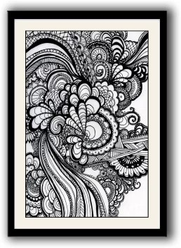 Artifa Doodle Art Framed Wall Painting Canvas 14 Inch X 10 Inch